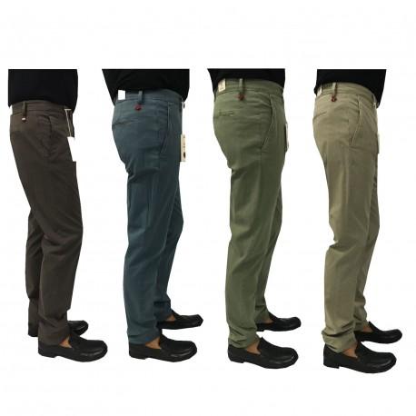 ZANELLA pantalone uomo colore moro vestibilita' slim mod HORSE/M 96% cotone 4% elastan