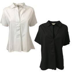 ALPHA STUDIO Camicia Donna mezza manica AD-6473B 98% cotone 2% elastan