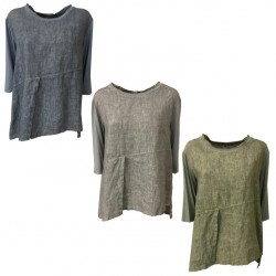 MYLAB blusa donna denim used MADE IN ITALY