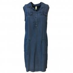 ETiCi woman dress sleeveless denim art A1/9464 100% lyocell MADE IN ITALY