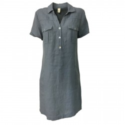ETiCi woman dress light blue art A1/7076 100% linen MADE IN ITALY
