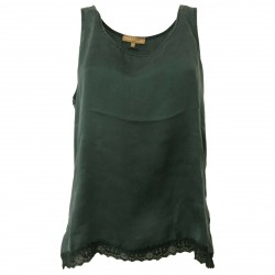 HUMILITY 1949 women's tank top with lace mod HA6101 100% silk MADE IN ITALY