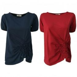 ALPHA STUDIO T-shirt donna cotone art AD-1406C 95% cotone 5% elastan
