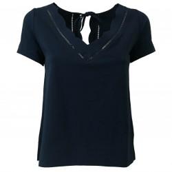 ALPHA STUDIO T-shirt donna blu cotone art AD-1410A 95% cotone 5% elastan