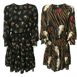 IL THE DELLE 5 woman dress with flounces art CLOUD 35 ST MADE IN ITALY