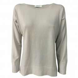 ALPHA STUDIO women's sweater 3/4 sleeve pearl color art AD-1002C 100% cotton