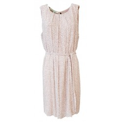 LA FEE MARABOUTEE woman dress pink/white 100% viscose MADE IN ITALY
