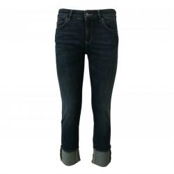CIGALA'S ATELIER women's jeans denim high waist mod 16-117H STRAIGHT var 5Y MADE IN ITALY