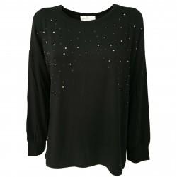 CORTE DEI GONZAGA GOLD woman sweater black art 5200 95% viscose 5% elastane