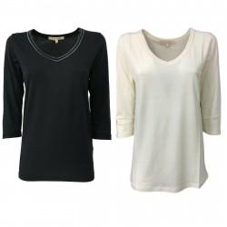 LA FEE MARABOUTEE T-shirt Donna manica 3/4 art FB7659 67% lyocell 33% cotone