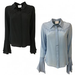 ISABELLE BLANCHE PARIS western-cut shirt with ruffles on the sleeves C022-T003