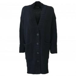 HUMILITY Women's wool blue maxi cardigan art HA9092 MADE IN ITALY