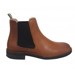 ASTORFLEX Shoe Man in rust-colored greased leather with contrasting elastic MADE IN ITALY