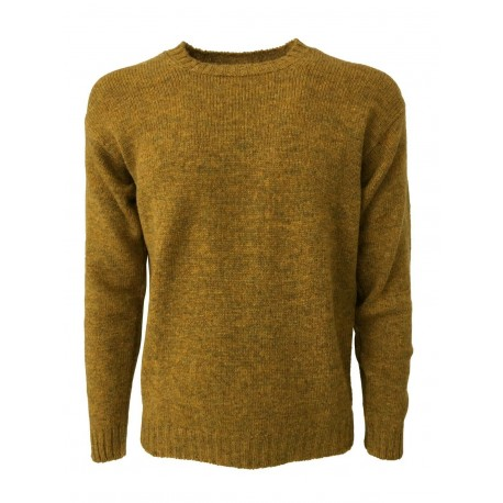 HAWICO Men's crew neck sweater BURNSIDE 100% shetland wool MADE IN SCOTLAND