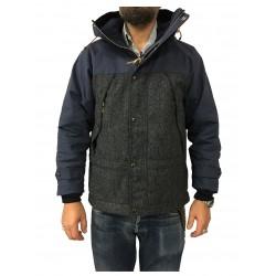 MANIFATTURA CECCARELLI giaccone uomo blu in tessuto cotone/lana spinato mod 7025 MADE IN ITALY