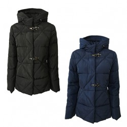 CORTE DEI GONZAGA woman coat with hooks and fixed hood mod 1902 1R 1220 EMEMI 100% polyester