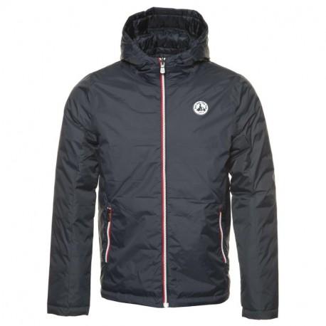 JOTT Man down jacket with hood VEGAS RÉVERSIBLE Blue Marine 95% polyamide, 5% polyurethane