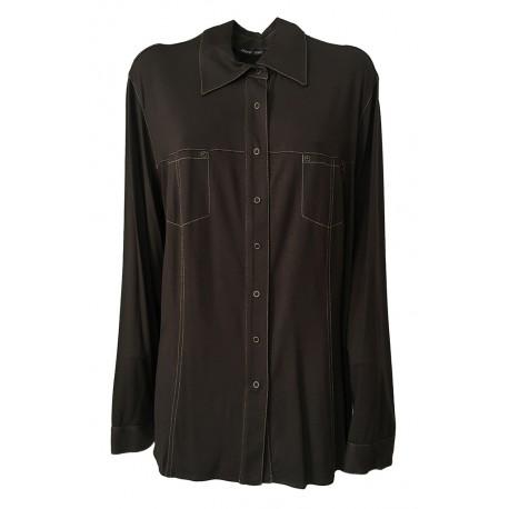 ELENA MIRÒ camicia donna jersey moro con bottoni automatici 94% viscosa 6% elastane