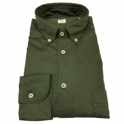 MGF 965 man shirt green button-down with pocket mod 92 L.T 100% cotton