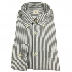 MGF 965 man shirt white/gray button-down with pocket mod 92 L.T 100% cotton