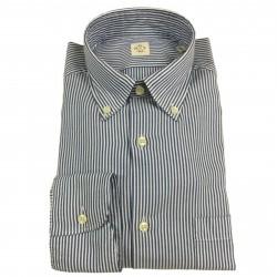 MGF 965 man shirt white/blue button-down with pocket mod 92 L.T 100% cotton