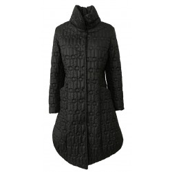TADASHI black women's down jacket in quilted fabric mod TAI206080 100% polyester MADE IN ITALY