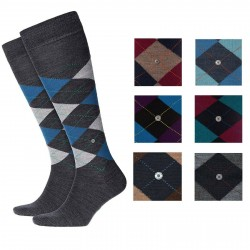 BURLINGTON Men Knee-high Socks wool art 27082 EDINBURGH (Taglia 40/46)