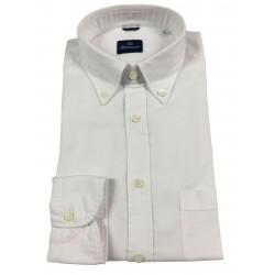BRANCACCIO camicia uomo Bianca Oxford button-down con taschino mod NICK ABL02