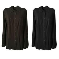 ELENA MIRO' camicia donna jersey con bottoni automatici 94% viscosa 6% elastane