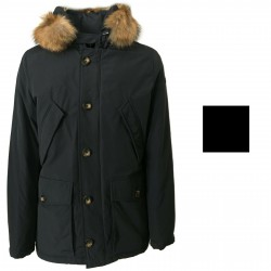 NORWAY man jacket with fur 70% down + 30% feather mod GREENFIELD