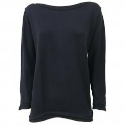 GAIA MARTINO maglia donna girocollo blu art GM047 100% lana MADE IN ITALY