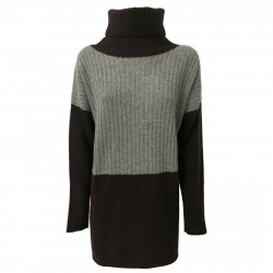 GAIA MARTINO maglia donna bicolore GM008/19 70% lana 30% cashmere MADE IN ITALY