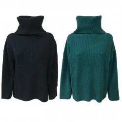 GAIA MARTINO maglia donna collo alto 70%lana 30% cashmere GM004/19 MADE IN ITALY