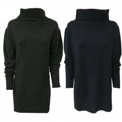 GAIA MARTINO maglia donna collo alto 70%lana 30% cashmere GM007/17 MADE IN ITALY