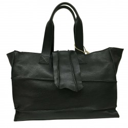 BRADGIGGS woman bag black 100% leather art IZUMA MADE IN ITALY