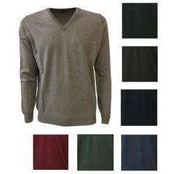 FERRANTE maglia uomo Collo a V 100% lana MADE IN ITALY mod. G22704