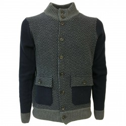 FERRANTE blouson man with buttons mod 42U24001 80% wool MADE IN ITALY