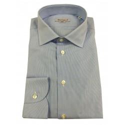 BRANCACCIO man long sleeve shirt micro line white sky art. ab65901