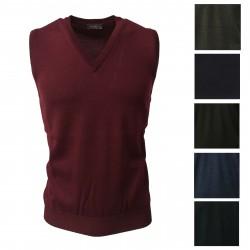 FERRANTE gray men's vest 100% wool MADE IN ITALY