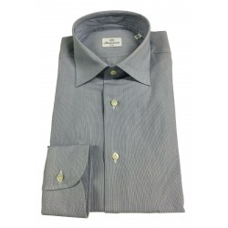 BRANCACCIO man long sleeve shirt blue / black lines mod LUKE ABN0601