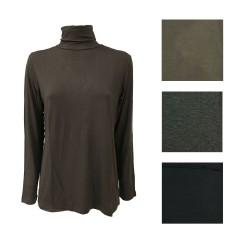 PERSONA by Marina Rinaldi t-shirt woman high collar long sleeve mod ALCA 90% viscose 10% elastane