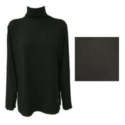 MARINA SPORT by Marina Rinaldi t-shirt woman high collar long sleeve mod ACUME 92% viscose 8% elastane