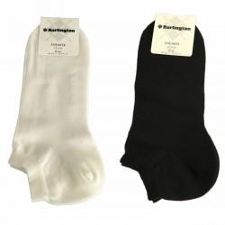 BURLINGTON fantasmino uomo bianco cotone mod 27061 SNEAKER (Taglia 40/46)
