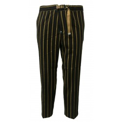WHITE SAND pantalone uomo righe blu/giallo/bordeaux con elastico mod 17WSU16335