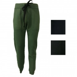 BKØ Pantalone uomo felpa garzata 100% cotone mod BU18603 MADE IN ITALY
