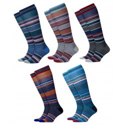 BURLINGTON Men Knee-high wool Socks art 21757 STRIPE 74% wool (Taglia 40/46)