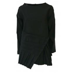 TADASHI women's asymmetric blouse technical fabric with black ribs mod TAI202162 MADE IN ITALY