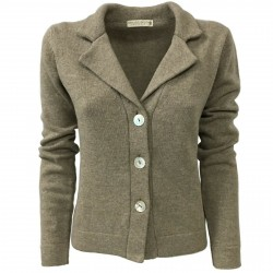 TREDICINODI women's jacket dove grey 70% wool 30% cashmere mod W1334 MADE IN ITALY