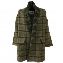 BKØ linea 4.1 Giacca donna lana a quadri senza bottoni art DD18440 MADE IN ITALY