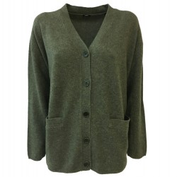 ASPESI green woman cardigan mod 3850 3831